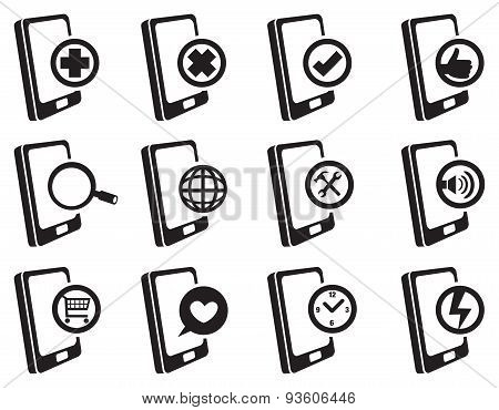 Mobile Phone Internet Vector Icon Set