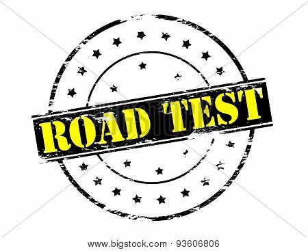 Rubber stamp with text road test inside vector illustration