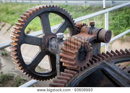 Old Rust Gear Of Sluice