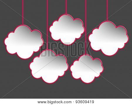 speech bubbles, cloud shape