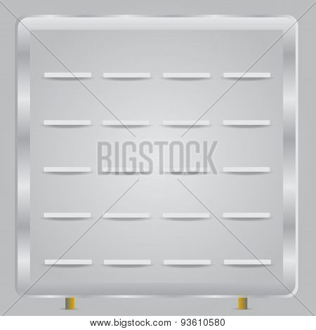 Book shelves white vector background