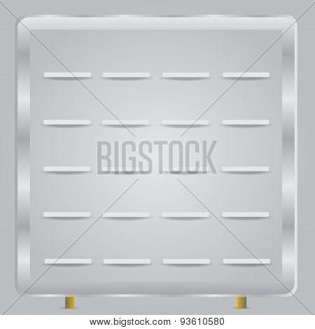 Book shelves white vector background
