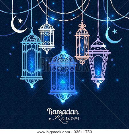 Ramadan Kareem. Islamic Background. Lantern For Ramadan