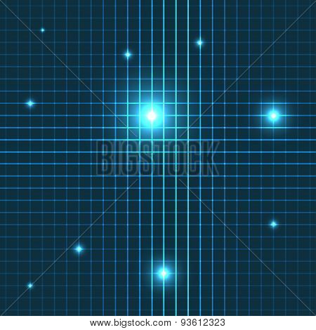 Vector glow lines seamless pattern