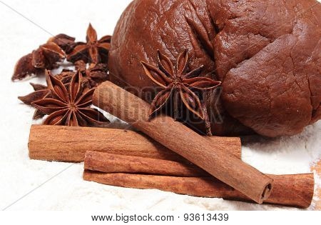 Spice And Accessories For Baking With Dough For Gingerbread