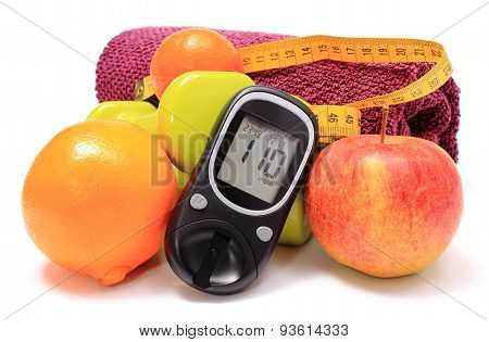 Glucometer, Fresh Fruits, Tape Measure, Accessories For Fitness