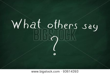 Write What Others Say