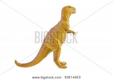 T-Rex Dinosaurs Toy Model Isolated On White Background.