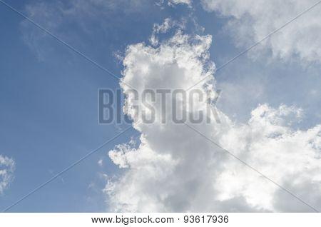 Rim Light White Cloud And Blue Sky