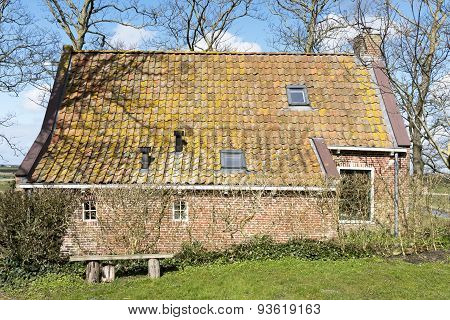 Netherlands - Jannum - Circa April 2015: Terp House In Friesland.