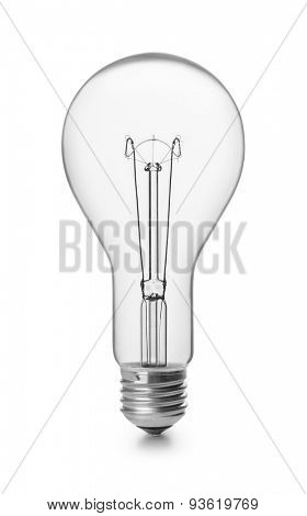 Incandescent light bulb isolated on white