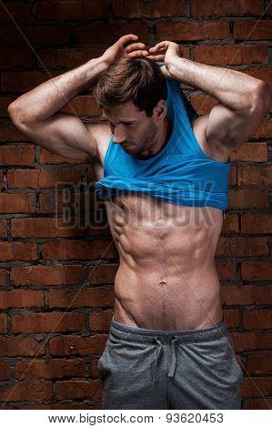 Man Undressing
