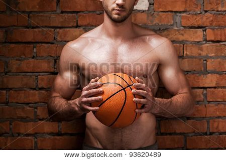 Man Ready To Play Basketball