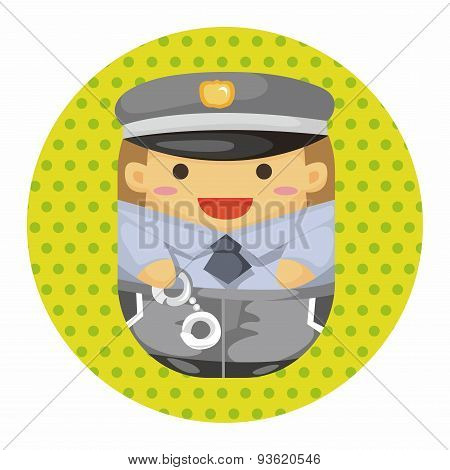 Policeman Theme Elements