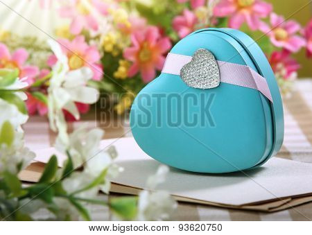 heart shaped gift box for Valentine's day image