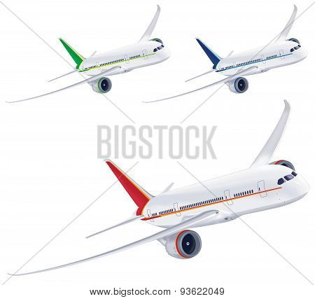 Airplane isolated on white background. Vector illustration