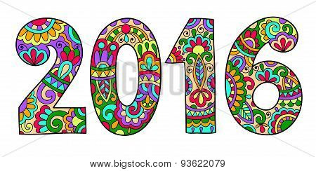 new year inscription 2016 hand written