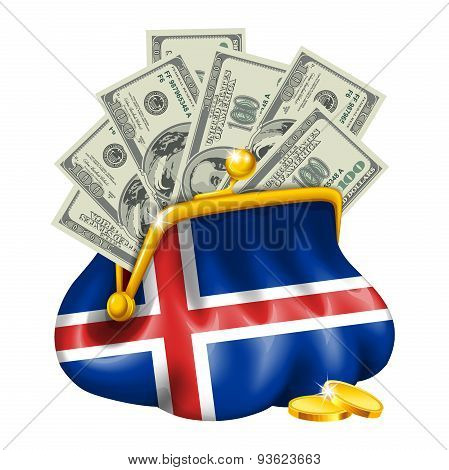 Economics and business purse Iceland
