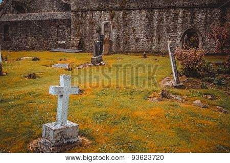 Medieval cemetery.