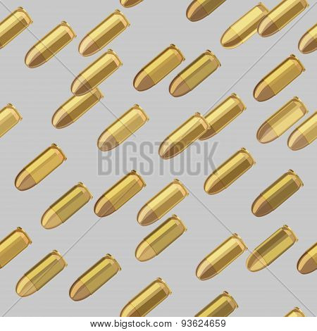 Bullets Bombardment Seamless Pattern