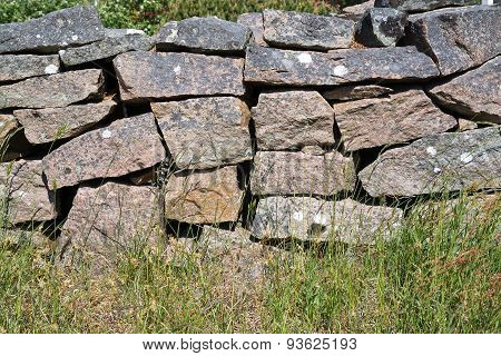 Drystone wall fence