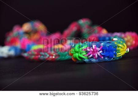 Rainbow Colors Rubber Bands Loom Bracelets