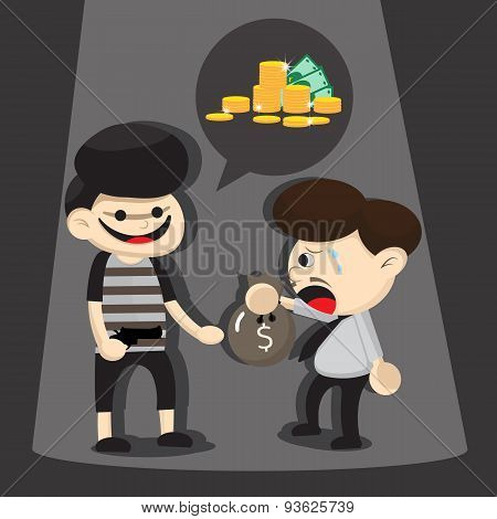 Thief are stealing at night