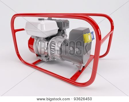 3D render of a Gas powered generator