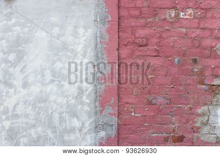 Masonry Wall With Decoration & Render Repairs
