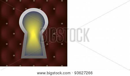 Keyhole in the door