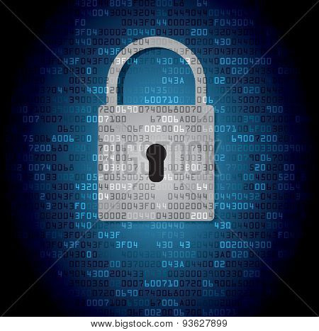 Lock on background with HEX-code