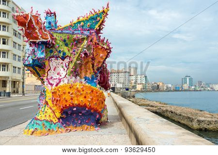HAVANA,CUBA - JUNE 15:2015 : Art installation at the Havana Biennale