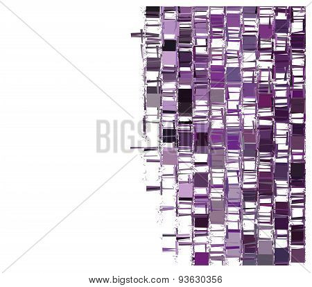 Purple Fragmented Abstract Pattern Over White