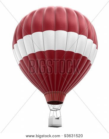 Hot Air Balloon with Latvian Flag (clipping path included)
