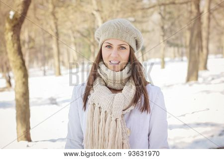 Happy Young Woman Wintertime