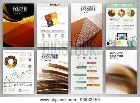 Creative Business Backgrounds And Abstract Concept Infographics