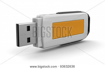 USB flash Memory (clipping path included)