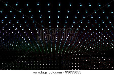 Background Of Many Multicolored Led Lights
