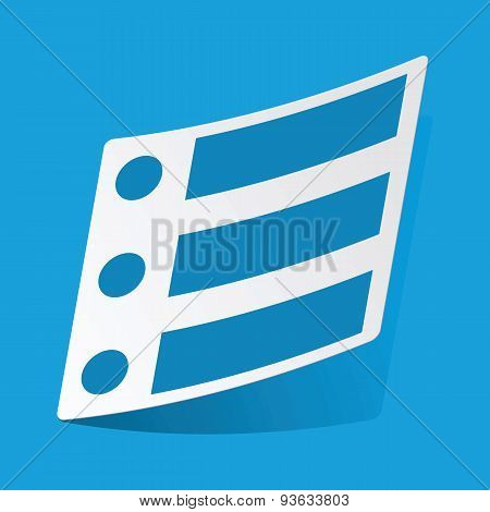 Dotted list sticker