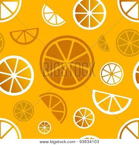 Vector seamless citrus pattern