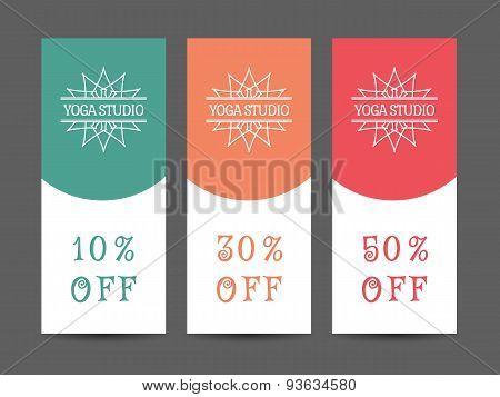 Yoga Studio Vector Discount Coupon Template