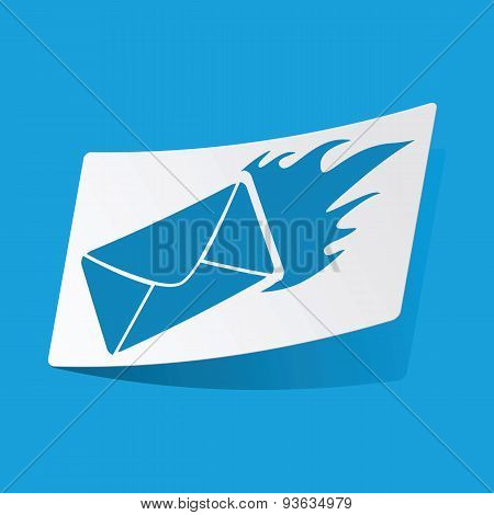 Burning letter sticker