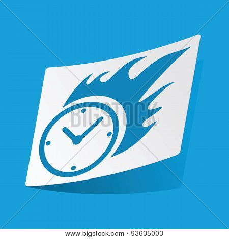 Burning clock sticker