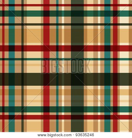 Vector dark plaid seamless pattern. Eps10