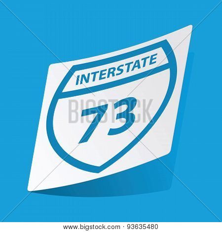 Interstate 73 sticker