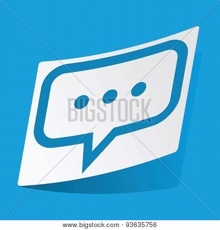 Typing sticker