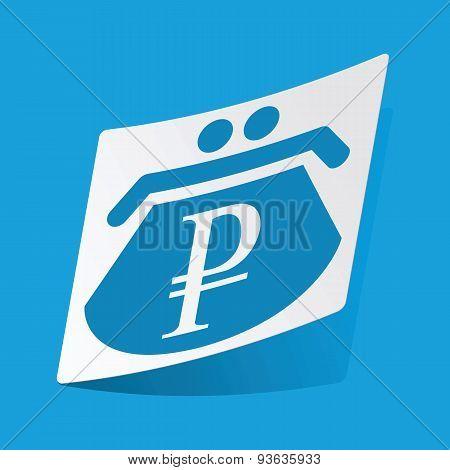 Ruble purse sticker