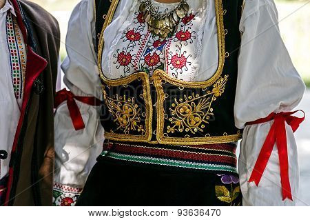 Traditional Serbian Folk Costume For Women