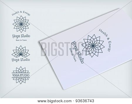 Yoga Studio Vector Logo Template Set