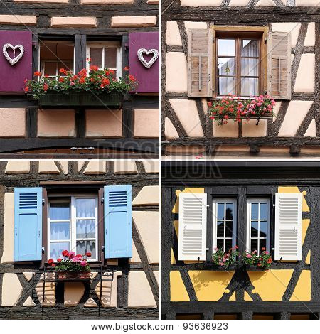 Alsace Architecture: Windows, Collage